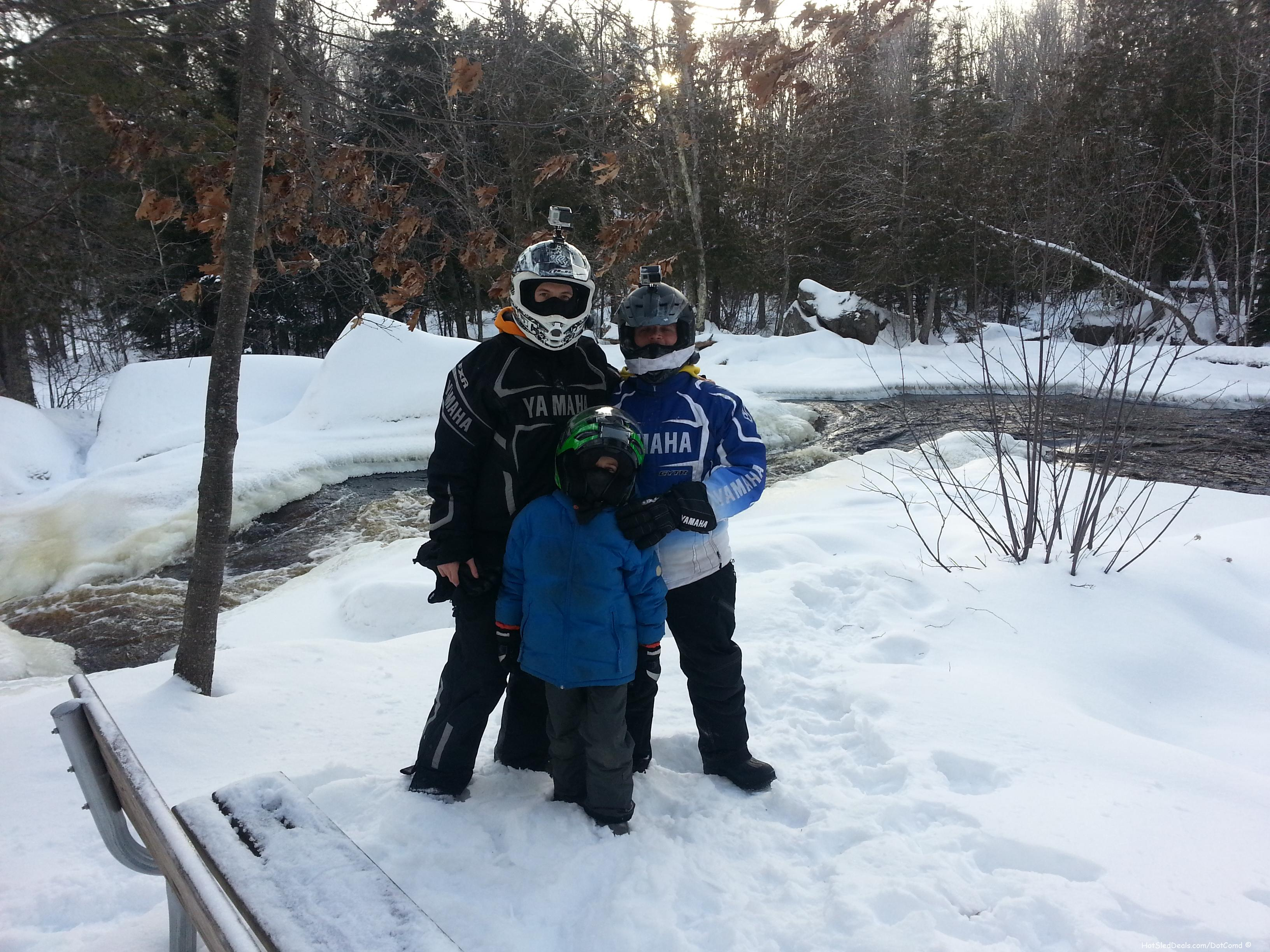 My son Blake Cruzer had his first ever snowmobiling trip this weekend with the boys...    A mans trip if you know what I mean!   LOL.   It was a blast!  140 miles out in the middle of nowhere till about 7:30 at night.   We took in some sights at a waterfall, and then slept for about 11 hours.