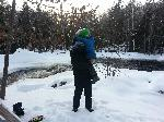 Blakes First Snowmobiling Trip EVER!  Amberg Wisconsin